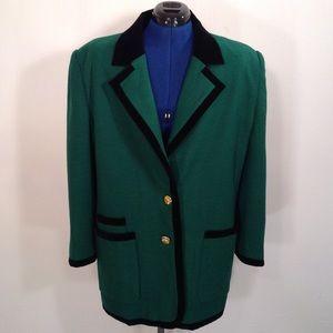 Vintage 80's Escada Wool Cashmere Blazer Size 14